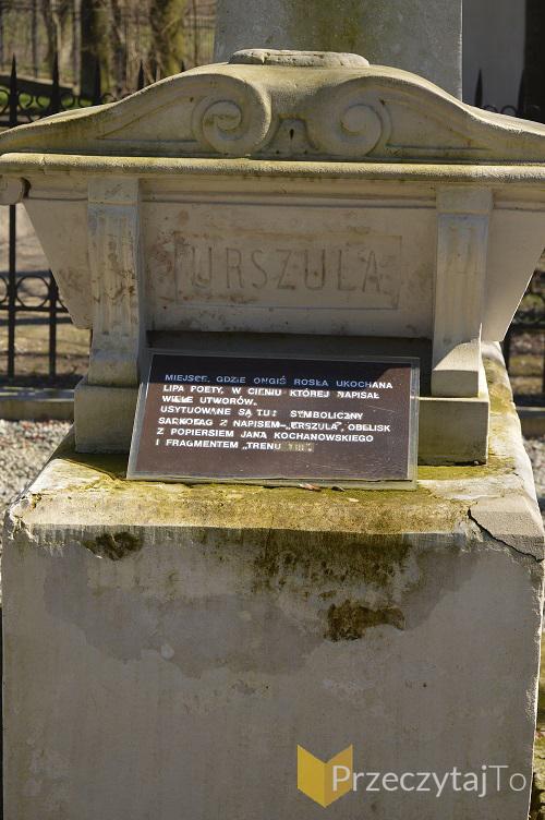 Pomnik upamiętniający słynną czarnoleską lipę